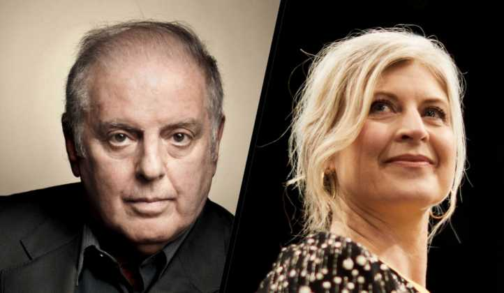 Daniel Barenboim og Helle Solvang. Photo: Peter Adamik/Press photo