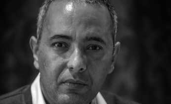 Kamel Daoud. Algerian writer and journalist. Born 17 June 1970 in Mostaganem. Has studied French literature and now works on the French-language Algerian newspaper Le quotidien d'Oran. Photo: Claude Truong-Ngoc