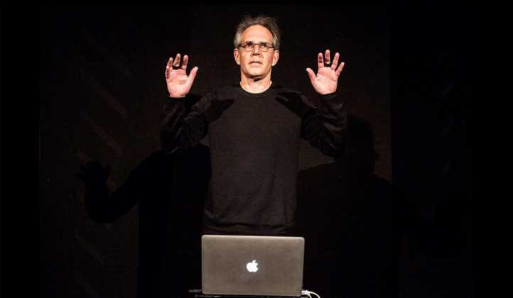 Wayne Siegel performing with his motion tracking system