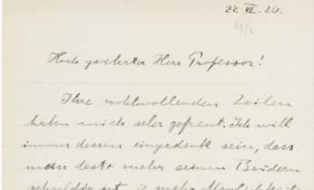 Letter from Albert Einstein to David Simonsen