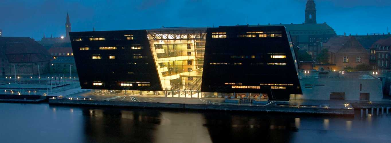 The Royal Danish Library on Slotsholmen - The Black Diamond from the seaside