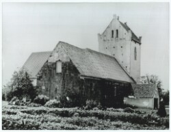 Vedersø Church, the church of poet-priest Kaj Munk who was buried at the east gable