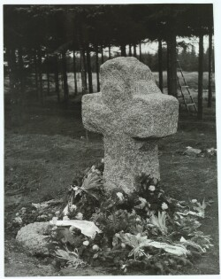 The monument for the Danish Poet Kaj Munk where he was murdered at Hørbylunde in 1945