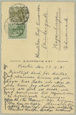 Letter from                         Abraham, Lotte                         to                         Simonsen, David