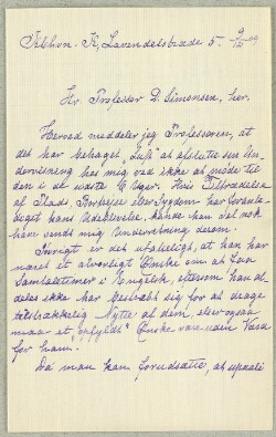 Letter from                         Abrahamsen, Hanna                         to                         SImonsen, David