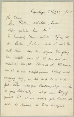 Letter to                         Adler, Hermann                         from                         Simonsen, David
