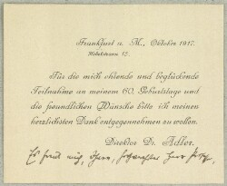 Letter from                         Adler, S.                         to                         Simonsen, David