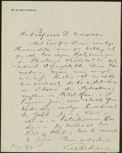 Letter from                         Andersen, Vilh.                         to                         Simonsen, David