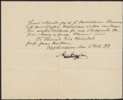 Letter from                         Arnheim, Ad.                         to                         Simonsen, David