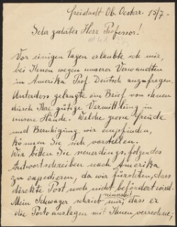 Letter from                         Ascher, Adolf                         to                         Simonsen, David