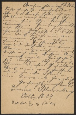 Letter from                         Blumberg, Emma                         to                         Simonsen, David