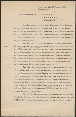 Letter from                         Eschweg, S.                         to                         Simonsen, David