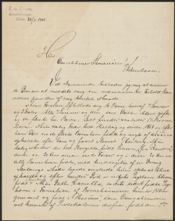 Letter from                         Essen, J. v.                         to                         Simonsen, David