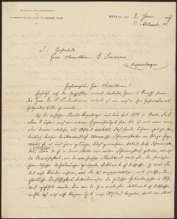 Letter from                         Estermann, L.                         to                         Simonsen, David