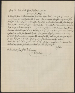 Letter from                         Flesch, Heinrich                         to                         Simonsen, David