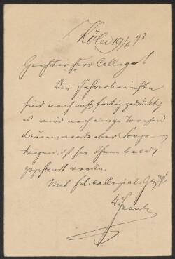 Letter from                         Frank, Abraham                         to                         Simonsen, David