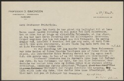 Letter to                         Fridericia, L. S.                         from                         Simonsen, David