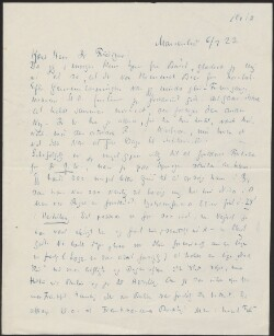 Letter to                         Friediger, M.                         from                         Simonsen, David
