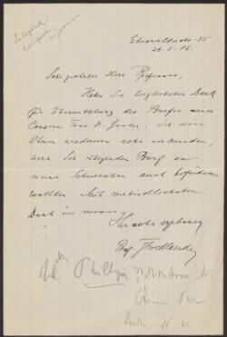 Letter from                         Friedlaender, J.                         to                         Simonsen, David