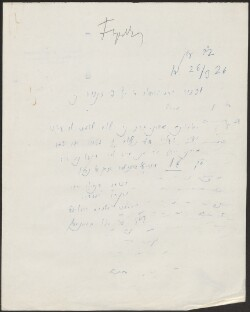 Letter to                         Feigenbaum, I.                         from                         Simonsen, David
