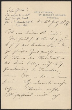 Letter from                         Friedländer, Bertha                         to                         Simonsen, David