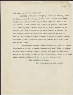 Letter to                         Freimann, Jacob                         from                         Simonsen, David