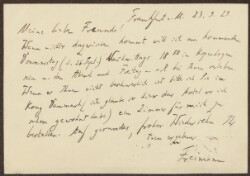 Letter from                         Freimann, Aron                         to                         Simonsen, David