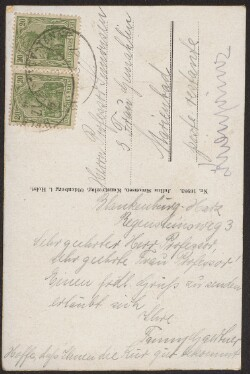Letter from                         Gaertner, Fanny                         to                         Simonsen, David