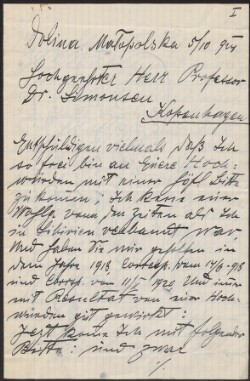 Letter from                         Gartenberg, Herman                         to                         Simonsen, David