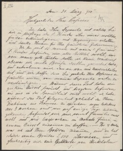 Letter from                         Gaster, Sacher                         to                         Simonsen, David