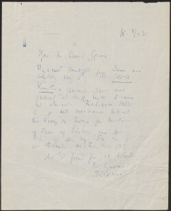Letter to                         Gjessing, -                         from                         Simonsen, David