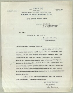 Letter from                         Herrmann, Leo                         to                         Simonsen, David
