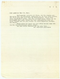 Letter to                         Herz, Hermann                         from                         Simonsen, David