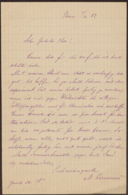 Letter from                         Karnowsa, M.                         to                         Simonsen, David