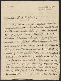 Letter from                         Ehrenpreis, Marcus                         to                         Simonsen, David