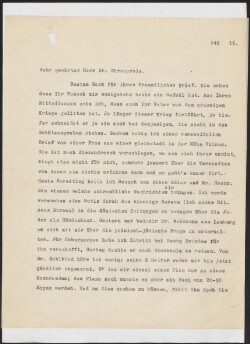 Letter to                         Ehrenpreis, Marcus                         from                         Simonsen, David