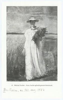 Anna Ancher gående kornmark