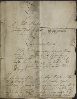 Tale holden af Rabbi Schachne Løverdagen d. 21de Martz 1818