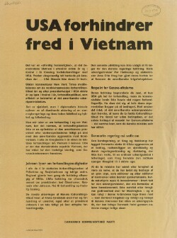 USA forhindrer fred i Vietnam